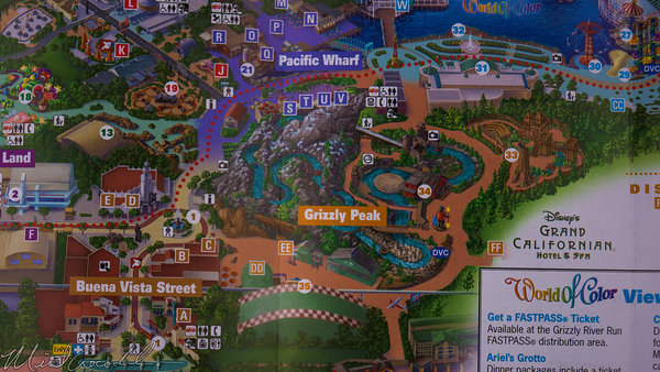 Disneyland Resort, Disney California Adventure, Guide Map, Grizzly, Peak, Airfield