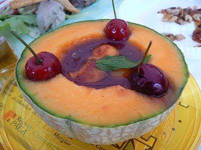 melon glac éau coulis de fraises.jpg