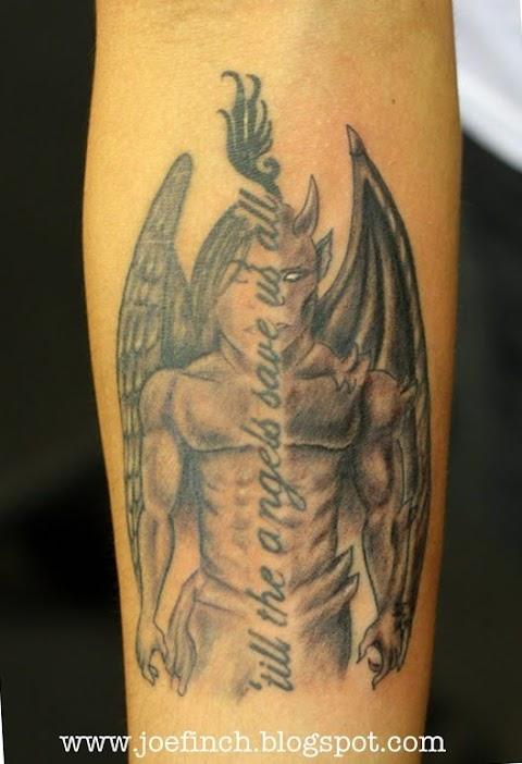 Half Angel Half Devil Tattoo Designs