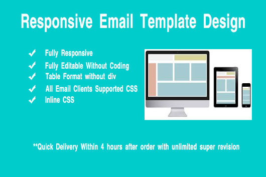 I will design responsive email template