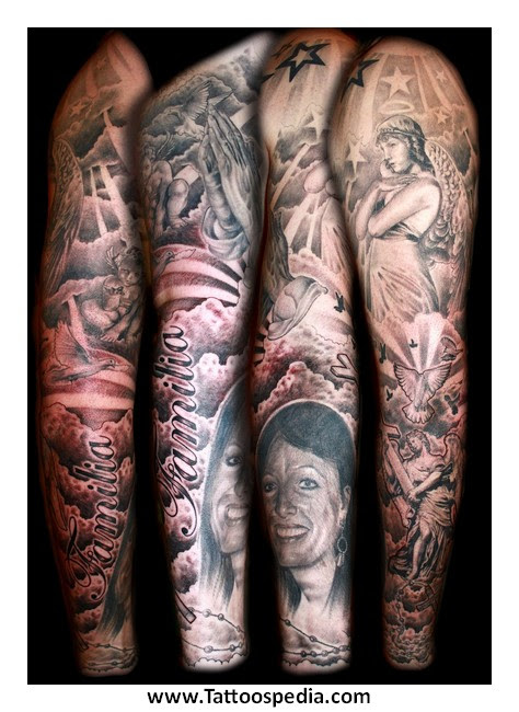 Religious Tattoo Sleeve Ideas For Men 2