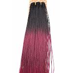 "Unique Micro Braid / 100% Human Hair 6"" / T1B/BURG (Color: T1B/BURG) | By VIP Extensions"
