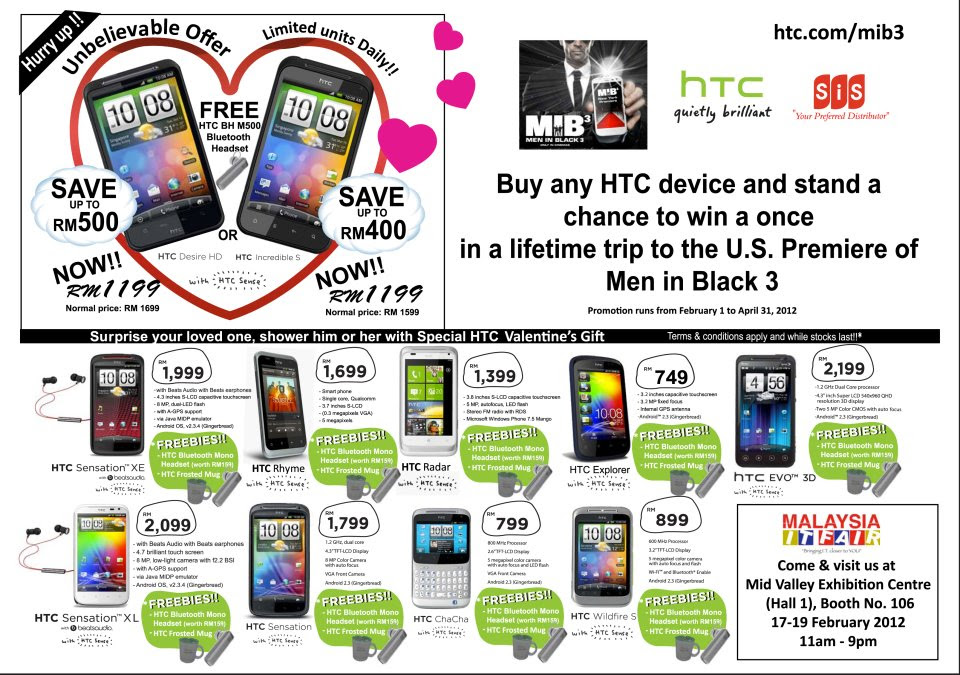 HTC Promotions at Malaysia IT Fair 2012