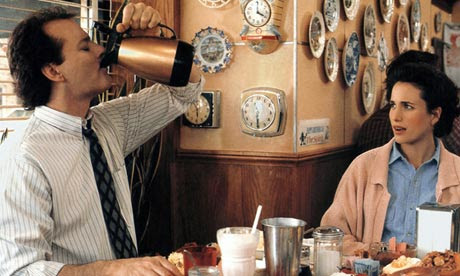 Bill Murray overindulging in Groundhog Day