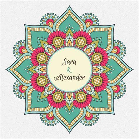 Indian wedding invitation Vector   Free Download
