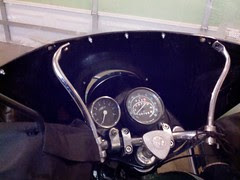 Moving ural fairing to tighten mirror