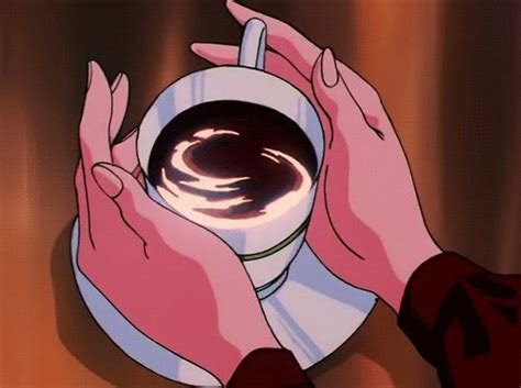 ooo artsy black coffee  anime love