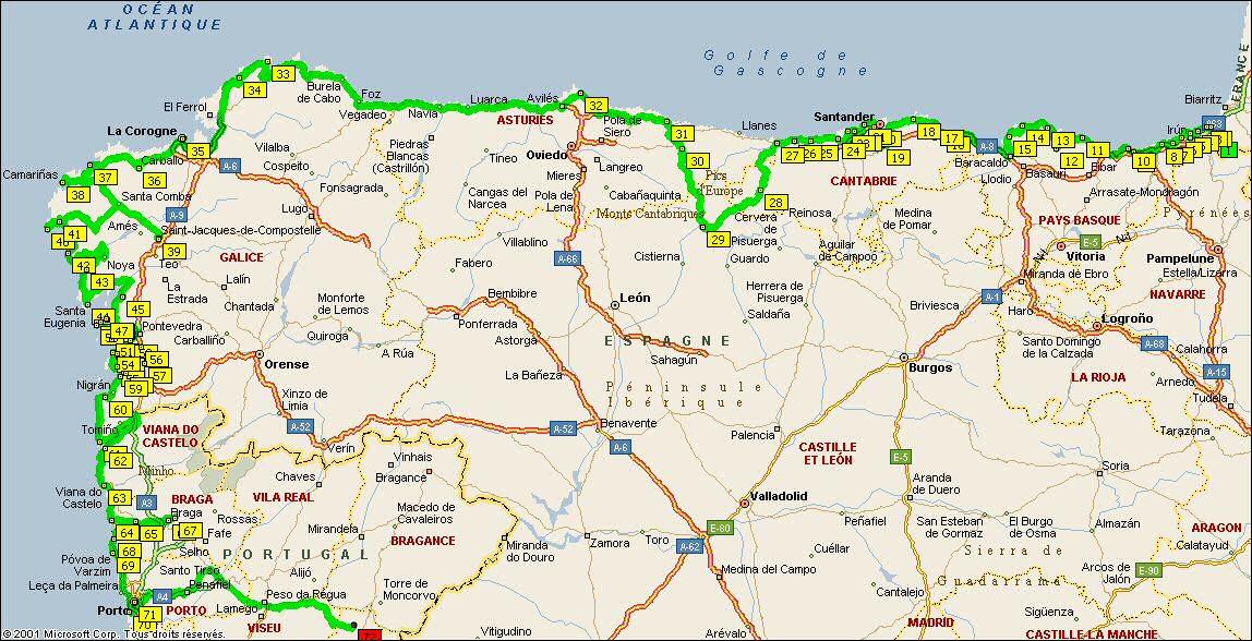 carte espagne du nord 25 Elegant Cote Nord Espagne Carte