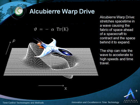Alcubierre Warp Drive Time Control and Time Travel