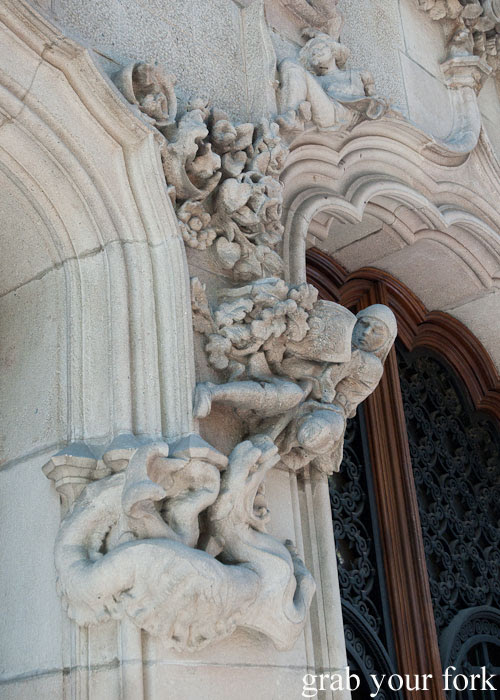 Elaborate carvings in Barcelona