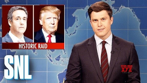 #Weekend #Update on #Michael #Cohen #Raid - #SNL  Weekend Update anchors Colin Jost and Michael Che ...