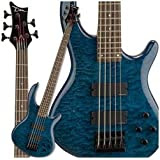 Dean Edge Quilt Top 5 String Bass Trans Blue
