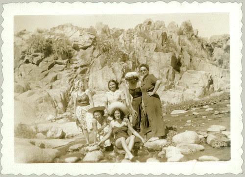 Six Women on the Rocks