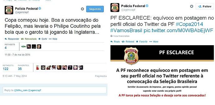 policia federal twitter seleção brasileira