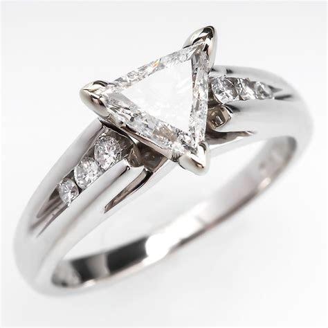 Triangle trillion Brilliant Cut Diamond Engagement Ring