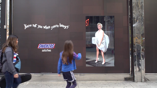 Stare Too Long at Snickers' Marilyn Billboard, and You Get a Scolding From You-Know-Who
