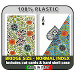 DA VINCI Fiori Italian 100% Plastic Playing Cards - Bridge Size Regular Index