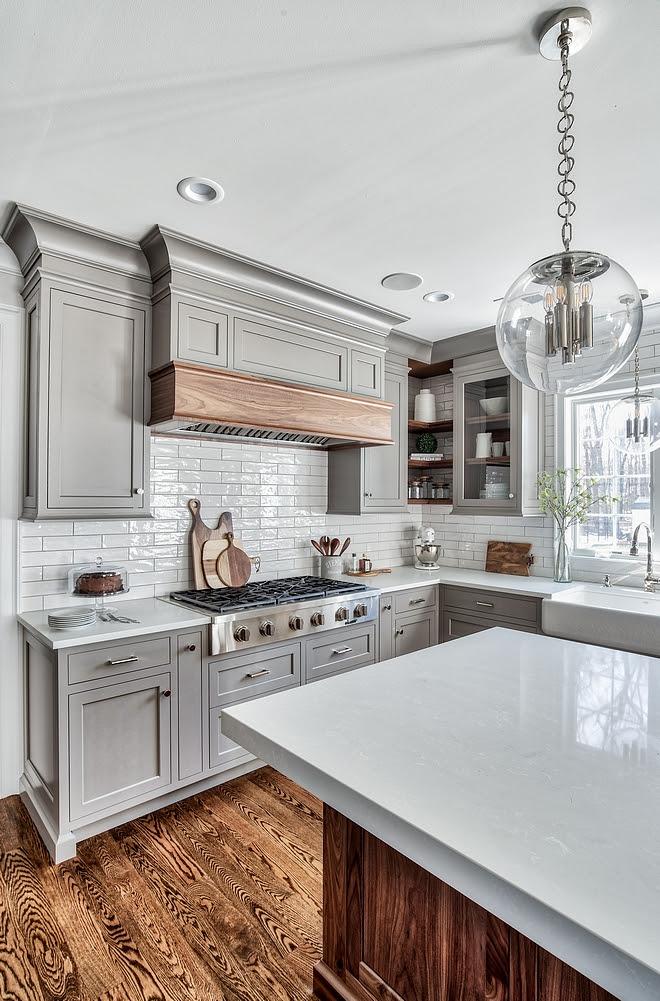 Grey Kitchen Design - Home Bunch Interior Design Ideas