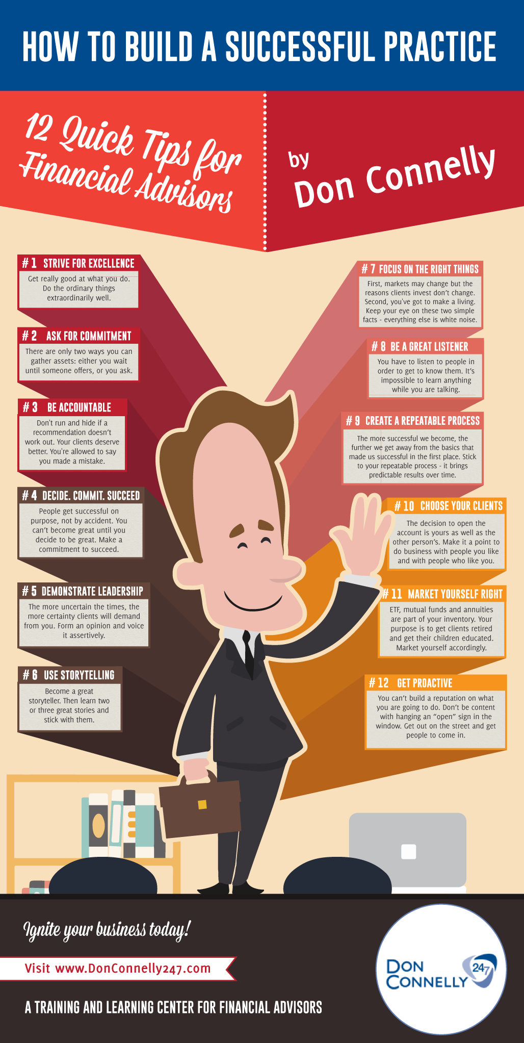 Infographic: 12 Practice Building Tips For Financial Advisors
