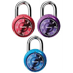 Master Lock 3 Pack Assorted Combination Lock 1533TRI