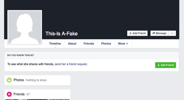 Procure não aceitar amizade de perfis falsos no seu Facebook (Foto: Reprodução/Felipe Vinha)