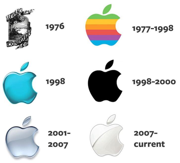 02 apple logo design progress