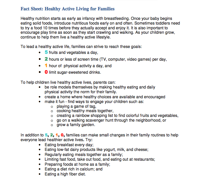 SMArt Kids: Sharing ideas on managing weight | Atrius ...