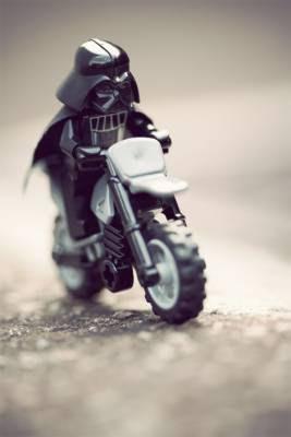 Darth Vader, motocross, moto, lego