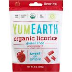 YumEarth Licorice, Organic, Pomegranate - 5 oz