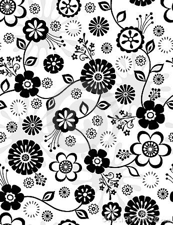 Black And White Flower Template Elitamydearestco