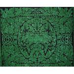 "Greenman Celtic Tapestry Cotton Bedspread 90"" x 84"" Full Green"