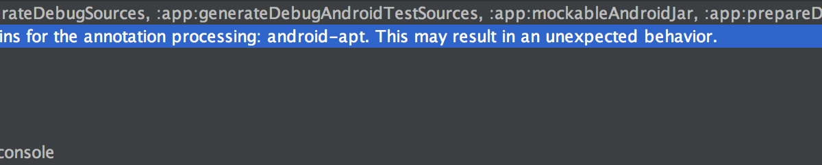 Silicon Valley Math Tutor: Cause: android-apt plugin is
