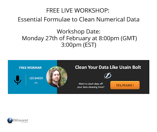 Free Live Workshop: Essential Formulae to Clean Numerical Data