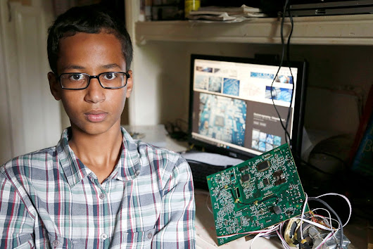 'They thought it was a bomb': Ahmed Mohamed, Texas 9th grader, arrested after bringing a home-built clock to school
