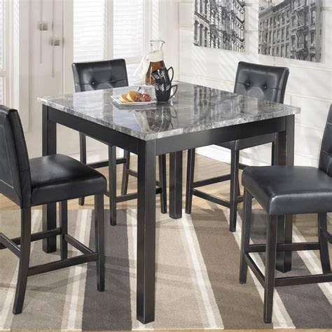 maysville square counter height dining table  stools set