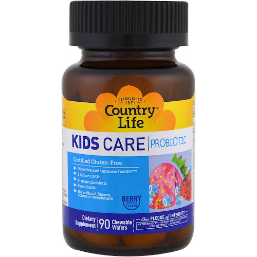 Country Life - Kids Care Probiotic - 90 Chewable Wafers