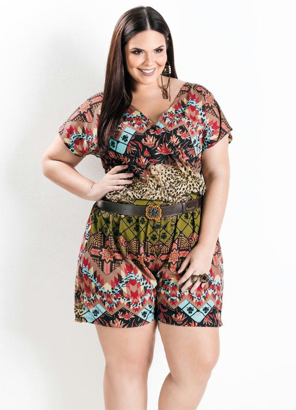 Macaquinho (Mix de Estampas) Plus Size