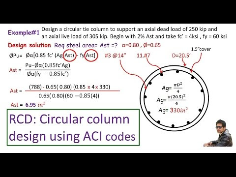 How To Perform Circular Reinforced Concrete Column Design Based On ACI Codes And Requirements