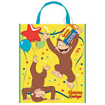 Curious George Tote Bag (1) - 96146 - Pack of 1 - Brown/Yellow