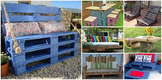 20+ Outdoor Pallet Furniture DIY Tutorial