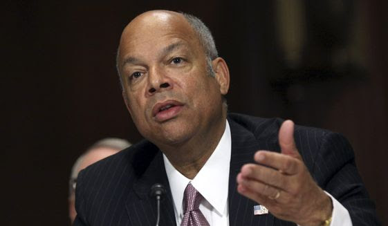 Homeland Security Secretary Jeh Johnson testifies on Capitol Hill in Washington, before the Senate Judiciary Committee on oversight of the department, in this April 28, 2015, file photo. (AP Photo/Lauren Victoria Burke, File)
