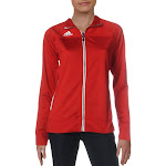 Adidas Womens Climalite Fitness Running Track Jacket Red