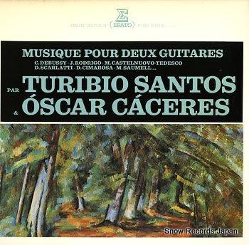 SANTOS, TURIBIO & OSCAR CACERES musique pour deux guitares