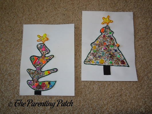 Beaded Yarn Christmas Tree Craft | Parenting Patch