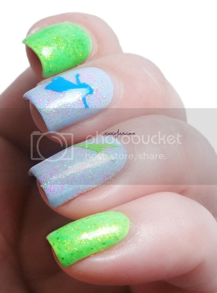 xoxoJen's Peter Pan Nail Art
