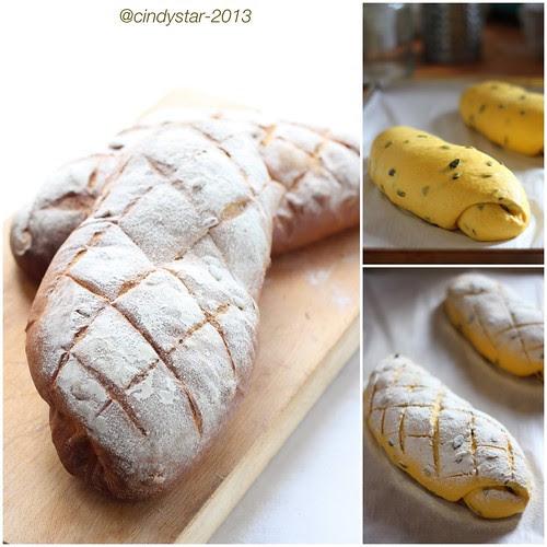 facendo pane zucca con semi