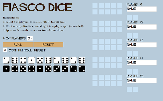 A Fiasco Dice Tracker!