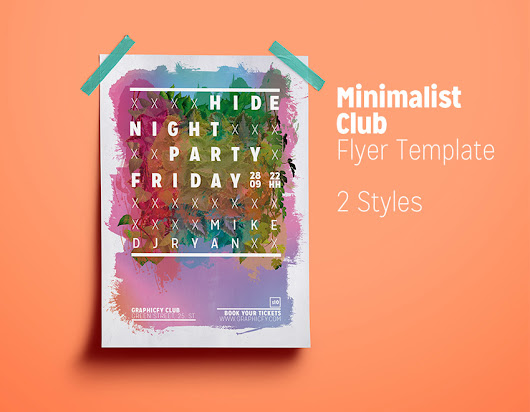 Minimalist Club Flyer Template - PSD Templates - Graphicfy