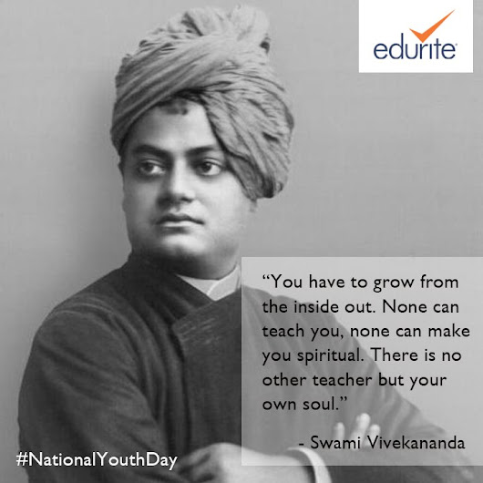 "Edurite on Twitter: ""A day to reconnect with the philosophy of Swami Vivekananda's inspiring values to move ahead towards a promising future #NationalYouthDay """