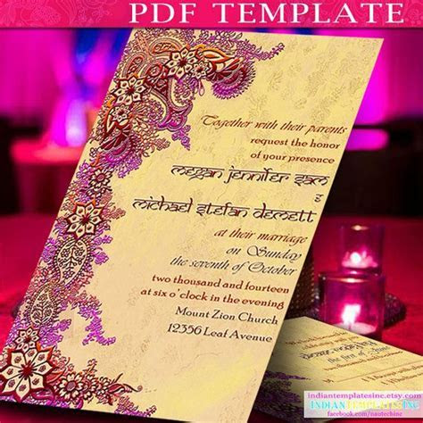 Invitation Template Indian Wedding Cards by